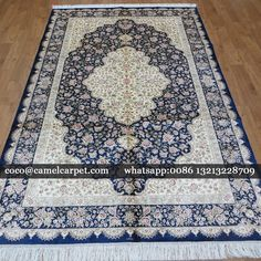 Beautiful floral design hand knotted carpet silk(wholesale and retail) size:5x8ft-152x244cm  whatsapp:008613213228709 coco@camelcarpet.com