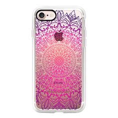HAPPY BOHO MANDALA - CRYSTAL CLEAR PHONE CASE - iPhone 7 Case, iPhone... ($40) ❤ liked on Polyvore featuring accessories, tech accessories, iphone case, clear iphone cases, slim iphone case, iphone cases, iphone cover case and apple iphone case