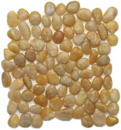 Solistone  Anatolia Pebble Tiles, Pebbles & Stones, Turkish Amberet, Polished, Brown, Natural Stone