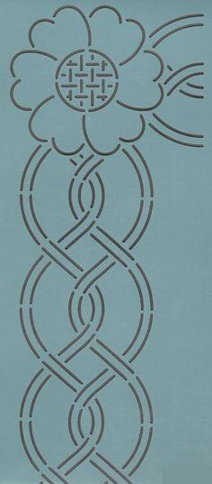 """Cable Border & Corner 3"""" - The Stencil Company"""