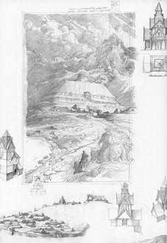 alan_lee_the lord of the rings_sketchbook_10_edoras01_med.jpg (344×500)