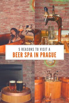 Beer spas are a real thing and they're an awesome experience. Here are 5 reasons why you should visit a beer spa in Prague. Travel Around Europe, Europe Travel Guide, Spain Travel, Travel Guides, Travel List, Europe Destinations, Holiday Destinations, Ukraine, Spa Breaks