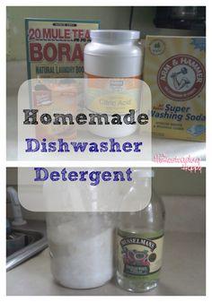 Homemade Auto Dishwasher Detergent
