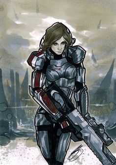 Female Shepard by ~XBlitzCraigX on deviantART