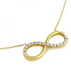 Infinity - złoty naszyjnik