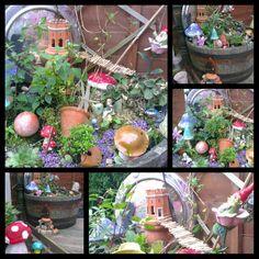 #Fairy garden with #bridge