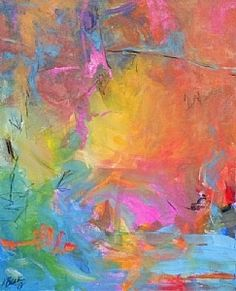Abstract Acrylic Painting Untitled 4 by Lorrie Beck Acrylic ~ 36 x 24