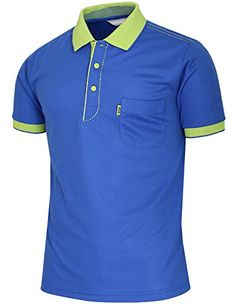 BCPOLO Men's Athletic Polo Dri-Fit Short Sleeve Polo Shir...