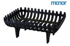 "MANOR BLACK METAL SNUG CROMWELL FIRE BASKET / LOG HOLDER 380mm / 15"" - 2003   eBay - £39, but a bit dull"