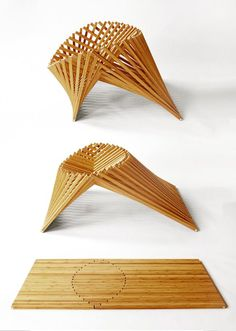 Piece from the Rising Furniture line by Van Embricqs, it can fold into an…