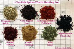 Key Turkish Spices by Olga Irez of Delicious Istanbul [fantastic article on the spices used in modern Turkish cooking]