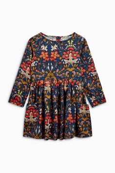 Buy Floral Long Sleeve Drop Pocket Dress (3mths-6yrs) from Next Australia