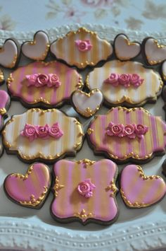 Baroque Style, Marie Antoinette Cookie Favors- 30 Pcs, for Wedding, Bridal Shower Cookies, Bridesmaids' Gifts, Birthday, Anniversary
