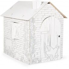 Cardboard houses for crafting in wholesale! Expand your assortment with these play houses! Learn more in the online shop! Wax Crayons, Coloured Pencils, Toy Craft, Play Houses, Wooden Toys, Kids Toys, Holiday Decor, Crafts, Design
