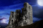 Scarborough Castle at night. Scarborough Castle, Iron Age, North Sea, 12th Century, North Yorkshire, Buckingham Palace, Architecture Details, Fine Art America, Mount Rushmore