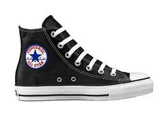 All Star Chuck Taylor Hi top Leather Shoes. Original rubber toe box and toe guard, tonal sidewall trim and All Star® heel patch. Converse Chuck Taylor Leather, Leather Converse, Converse Sneakers, Converse Chuck Taylor All Star, Chuck Taylor Sneakers, Converse High, Leather High Tops, Black Leather Shoes, White Shoes