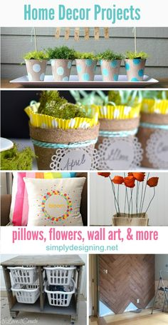 16 Home Decor Projects Perfect for Spring | these are such simple and fun ideas that would spruce up your home for spring perfectly - I especially love the first idea!!  So cool! | #whimsywednesday #spring #diy #crafts