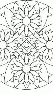 Flower Mandala Design 6 - Lotus > Flower Mandalas   마음놀이터 - 마음 그리고 성찰