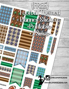 {FREE} Football Planner Sticker Printable
