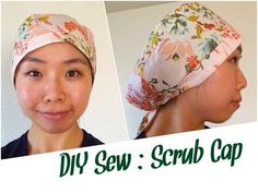 17 free DIY nurse cap patterns with practical tutorials for making your own scrub hat. Choose a fun fabric print and the surgical scrub cap tutorial that works… Scrubs Pattern, Scrub Hat Patterns, Hat Patterns To Sew, Sewing Patterns Free, Free Sewing, Sewing Tutorials, Sewing Tips, Sewing Projects, Scrub Caps