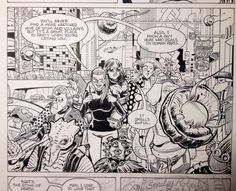"""David Lapham, tweeting his progress. """"Finished that AMY RACECAR PANEL I've been tweeting the last few days for STRAY BULLETS:KILLERS #5..."""" pic.twitter.com/uzsEfVNgci"""