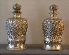 Pair of Tiffany Perfume Bottles Sterling