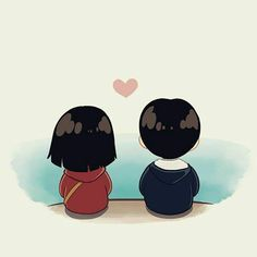 Me and mine Cute Love Wallpapers, Cute Couple Wallpaper, Cute Cartoon Wallpapers, Animes Wallpapers, Cute Couple Drawings, Cute Love Couple, Anime Couples Drawings, Cute Drawings, Love Cartoon Couple
