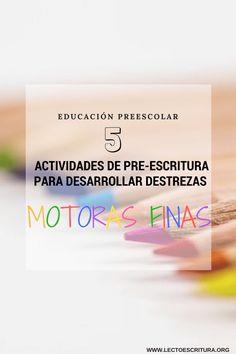 Motricidad fina: Actividades de trazos gratis para niños de preescolar