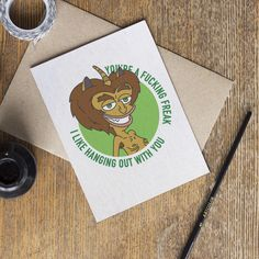 Big Mouth Card - Hormone Monster Maurice - Netflix TV Show - Adult Mature Cartoon - Funny Internet - Best Friend Boyfriend Valentines Cards by CardinalCreativeCo on Etsy https://www.etsy.com/listing/577156889/big-mouth-card-hormone-monster-maurice