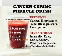 Cancer curing miracle drink - Bold statement and does not come from me. For sure it is a healthy drink