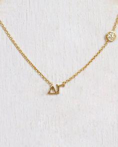 Delta Gamma Necklace Except I want Alpha Phi  www.etsy.com/mylojewelry