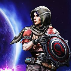 borderlands the pre sequel athena concept art Borderlands Tattoo, Borderlands Cosplay, Borderlands Series, Tales From The Borderlands, Game Character, Character Concept, Concept Art, Video Game Art, Video Games