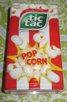 Tic Tac Special Edition PopCorn Sweets (Poundland) [By Fini Tubes, Weird Oreo Flavors, Junk Food Snacks, Flavored Popcorn, Sour Candy, Weird Food, Food Goals, Food Humor, Aesthetic Food
