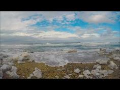April 7th 2017 The mighty Saint-Lawrence hits the beach in Sainte-Anne-D...