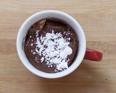 Flourless chocolate cake in a mug. THM Fuel Pull I increased the sweetner & used 2 T Truvia