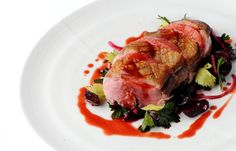 Bruno Loubet marinates a duck breast in honey and serves with a delicious salad