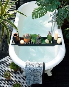 Fancy outdoor bath