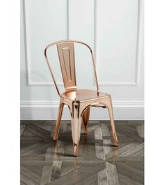 Copper finish Tolix style Vintage French Cafe Chair