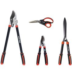 Keep your backyard looking good by using this four-piece backyard kit from Black & Decker. This set includes durable garden shears, a ratchet lopper, hedge shear and compound bypass lopper.