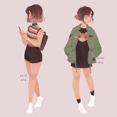Ideas For Drawing Girl Sketches Character Design Ideas . - Ideas For Drawing Girl Sketches Character Design Ideas For Drawing Girl Sk - Fashion Design Drawings, Fashion Sketches, Clothing Sketches, Pretty Art, Cute Art, Punziella, Kleidung Design, Arte Sketchbook, Illustration Mode