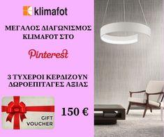 Έλαβα μέρος στο διαγωνισμό Klimafot στο Pinterest  Λάβε κι εσύ μέρος για να κερδίσεις δωροεπιταγή 150 ευρώ!  #Klimafot Create Yourself, Create Your Own, Gift Vouchers, Giveaways, Amazing, Gifts, House, Ideas, Decor