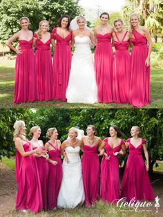 Gelique convertible bridesmaid dresses