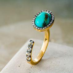 L/DANA - Anel Flight #ldana #despertar #jewelry #design #ldanaofficial #diamonds #trquoise #aquamarine #flight #ring