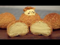 Choux Au Craquelin   Cream Puffs - YouTube Choux Pastry, Pastry Cake, Baking Recipes, Dessert Recipes, Cupcake Cream, Eclair Recipe, Cream Puff Recipe, Custard Cake, Beignets