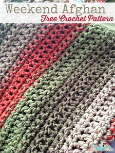 Free Crochet Pattern - Weekend Afghan - easy 3-strand afghan pattern