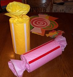 Decorating Will Have To Wait, So I'll Make My Giant Wrapped Candy Decorations   pegsgottado