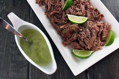 Crockpot Lechon (Pulled Pork) with Cuban Mojito Sauce | My Life as a Mrs