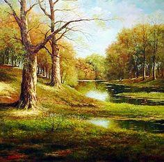 Modern Oil Paintings | modern-landscape-painting-001