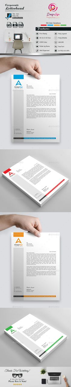 Letterhead Stationery printing, Print templates and Template - free letterhead templates download