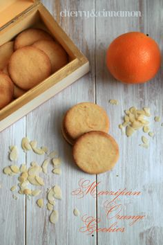 Marzipan Orange Cookies by cherryncinnamon.blogspot.com